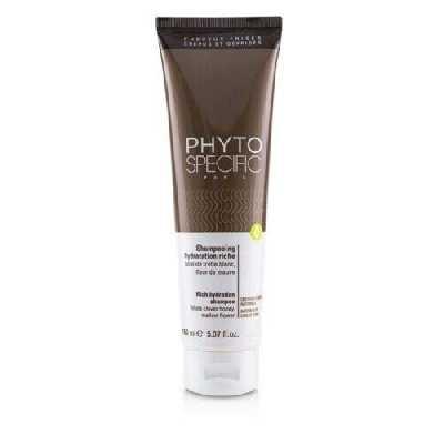 PHYTO Shampooing ultra-hydratant pour cheveux craquelés Shampooing ultra-hydratant Cheveux crépus naturels Ultra hydratant Émollient Démêlant Sans silicone 150 ml