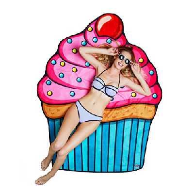 BigMouth Inc Couverture de plage de cupcake