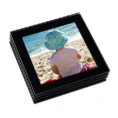 Adventa Lot de dessous-de-verre de haute qualité avec photos à insérer