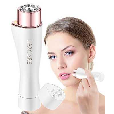 Rasoir facial pour femme Laxcare Sans douleur Imperméable Avec éclairage LED intégré (Blanc)