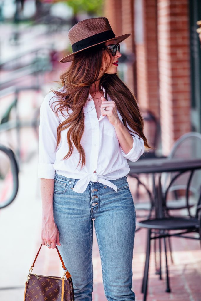 look jean chemise
