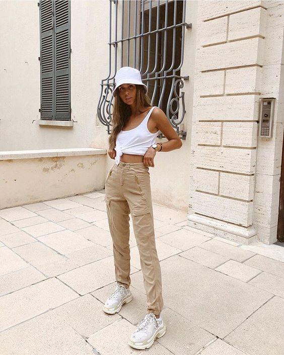 chapeau seau blanc